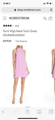 2084070aff1c TED BAKER TORRII Shift Dress in Pale Pink - Size 1 US 4 -  103.99 ...