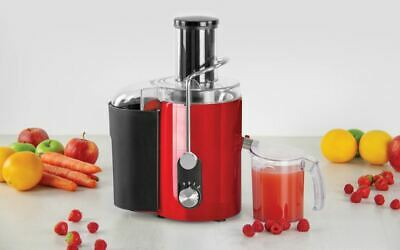 New Red Pro Powerful 800W Centrifugal Whole Fruit & Veg Citrus Juicer Extractor