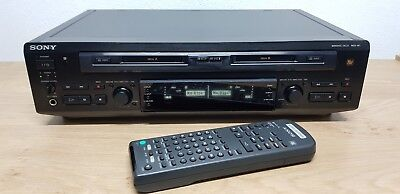 Sony MDS-W1 Black Double Minidisc Deck - MD to MD Copy Station *RARE*