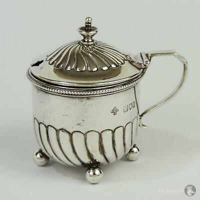 Quality VICTORIAN STERLING SILVER MUSTARD POT London 1897 Horace Woodward & Co