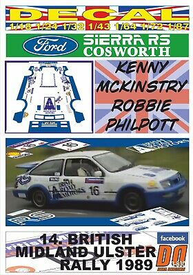 DECAL FORD SIERRA RS COSWORTH K.MCKINSTRY ULSTER R. 1989 DnF (03)