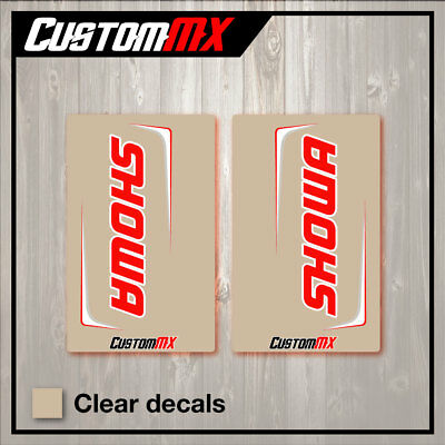 Showa Suspension Clear Upper Fork Decals Motocross Graphics Mx Graphics