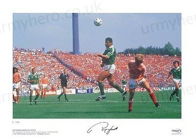 Paul McGrath HAND SIGNED Ltd Edition Ireland Print *Private Signing* Aston Villa