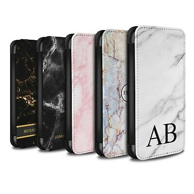 Personalised Custom Marble Case for Huawei P20 Lite/Initial PU Leather Wallet