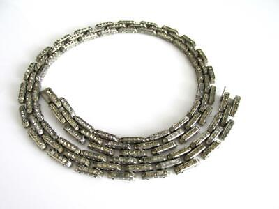 Vintage ART DECO Diamanté TANK TRACK German DRGM Schreiber & Hiller Necklace