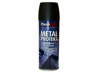 PlastiKote - Metal Protekt Spray Matt Black 400ml