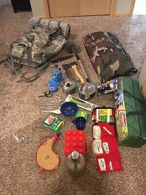 Ultralight Bug Out Backpacking Hiking Acu Us Army Bag And Gear Camping Emergency