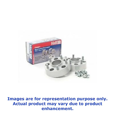 H/&R 25mm Silver Bolt On Wheel Spacers for 2000-2009 Honda S2000 Front Axle Only