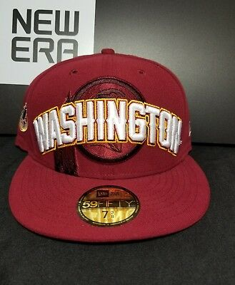 02c33e51337 Washington Redskins New Era 59Fifty NFL Official 2012 Draft Fitted Cap Hat  7-1