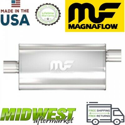 "Magnaflow 3.5"" Inlet / Outlet Straight Through Muffler Universal Fitment"