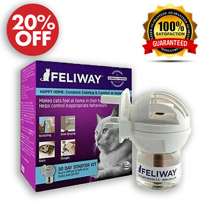 Feliway Classic 30 Day Starter Kit Plug In Diffuser For Stress Relief Calms Cats