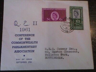 GB 1961 Commonwealth Parliamentary Conference First Day Cover