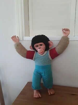 Vintage Chad Valley Jacko Monkey, 1960s, Straw Stuffed Head And Upper Arms.