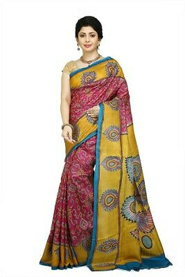 Kantha Stitch Saree Indian Boutique Sari Bollywood Handstitch Shari Ethnic HP046