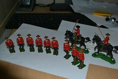 Collection of Vintage Britains RCMP Mounties - #MB