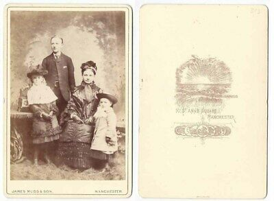 CABINET CARD Photograph Victorian Family by Mudd of Manchester