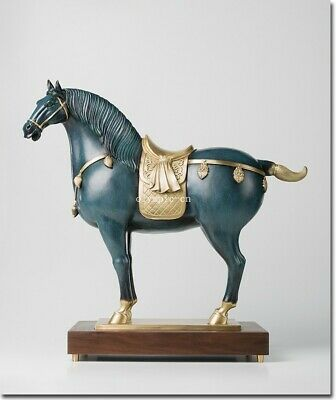 22'' bronze copper home fengshui decor royal imperial T' ang Dynasty war horse