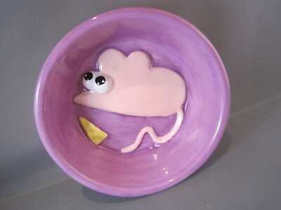 Pet Supplies Debby Carman Cat Dish 2002 Boston Warehouse Trading Hand Painted Cat Must See
