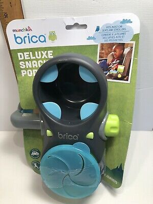 BRICA Deluxe Snack Pod Stroller Drink and Snack Holder, Gray