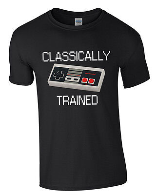 Classically Trained -  Mens Nintendo Gaming T-Shirt