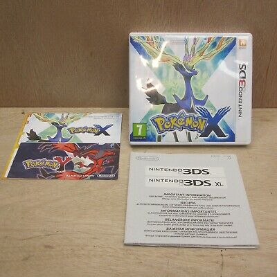 Pokemon X Nintendo 3DS BOX AND MANUAL no game cart Genuine Original Free UK P+P