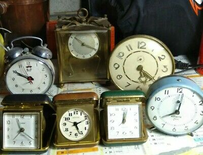 Lot  Réveil remontoir Pendule Anciens Rare Vintage alouette Europa rocking hero