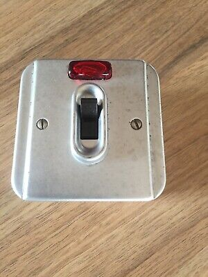 Mk Vintage Industrial    Light Switch With Neon New Old Stock No Box