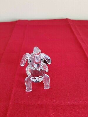 Maison Crystal Elephant ornament - height 3 1/2 inches
