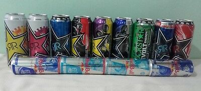 **REDUCED PRICE**Limited Edition UK Energy Drink Cans- Red Bull,Monster,Rockstar