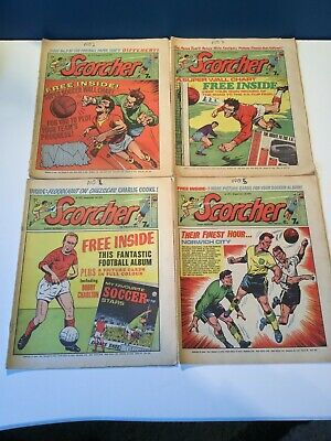 13 Issues Of Scorcher Football Comics From 1970 Inc Issues 2,3,5,6 &7