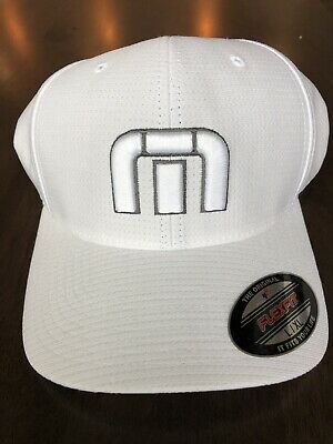 1a36bb09a0230 TRAVIS MATHEW Men s Large XL White Golf Cap Hat Flexfit BAHAMAS TM Logo New