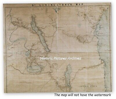 Dr Livingstone's Hardback Map Of Central Africa 1866 1873 From His Own Surveys