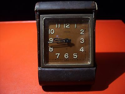Vintage Angelus,Travel Clock,Of Table With Alarm ,For Repair Or Parts