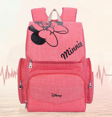 DISNEY Mickey Minnie Baby Maternal Stroller Maternity Nappy Bag