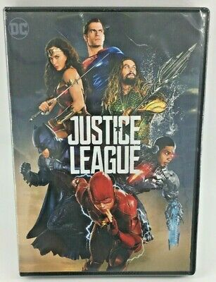 Justice League (DVD, 2018) Batman Superman Wonder Woman Flash Aquaman Cyborg NEW