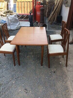 Meredew  Vintage Extending Dining And Chairs/ Vintage Table/ Teak table