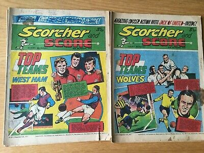 5 Issues Of Scorcher And Score From 1971