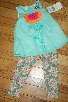 RARE EDITIONS SUNFLOWER FLORAL Leggings 2 PC Set NWT 4T