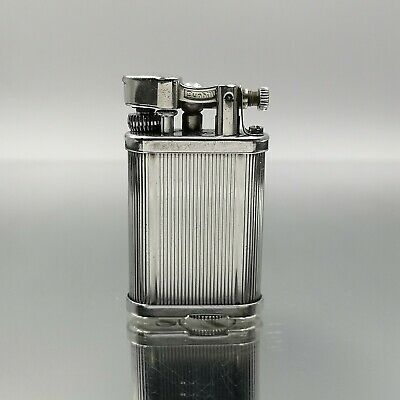 Great Auctions ! Rare Dunhill Unique silver plated! feuerzeug accendino lighter