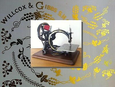Restoration decals for antique Willcox & Gibbs sewing machine - machine a coudre