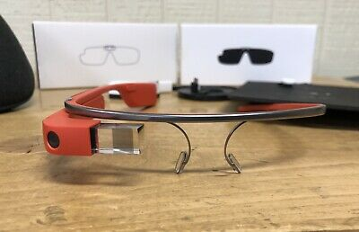 Google Glass Explorer Edition XE Version 2.0 Tangerine Orange PERFECT condition!