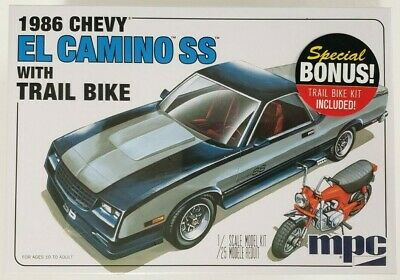 MPC888 - 1986 Chevy El Camino with Trail Bike 1/25 Scale Plastic Model Kit