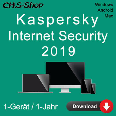 Kaspersky Internet Security 2019 *1-Gerät / 1-Jahr* DE / KEY