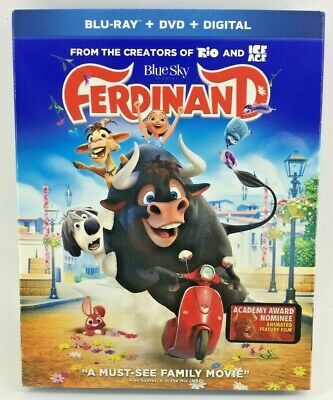 Ferdinand (Blu-ray + DVD + Digital Download 2018) Combo Pack With Slipcover NEW