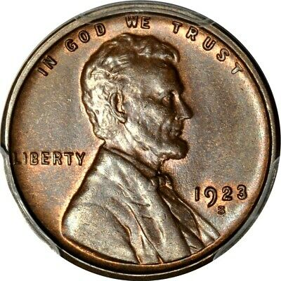 1923-S 1C Lincoln Cent PCGS MS64+BN