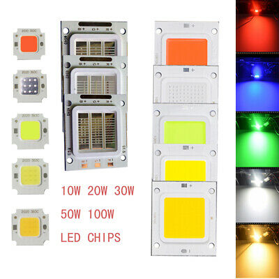 10W 20W 30W 50W 100W Bulb Light DIY Bead High Power RGB SMD LED Chips COB Lamp