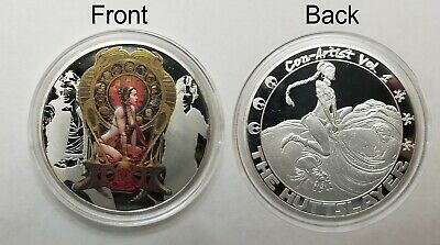 Star Wars Celebration Chicago 2019 Silver Challenge Coin Huttslayer Slave Leia