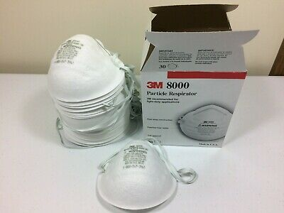 3M 8000 Particle Respirator Masks N95, 30-Pack