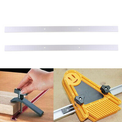 2pcs 24'' T-track T-slot Miter Jig Fixture Slot Router Table Saw Woodworking