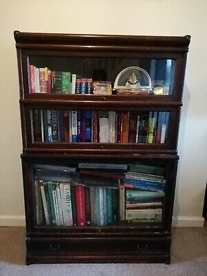 Early 20th Century Globe Wernickle Style 3 Tier Bookcase